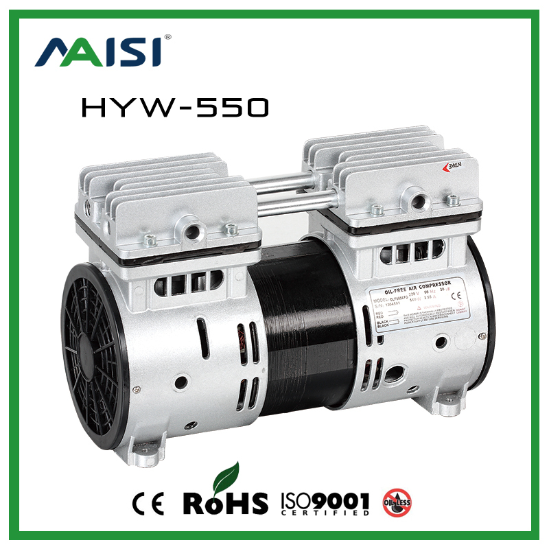(HYW-550) 110V /220V (AC) 67L/MIN 550 W Oilless Piston Compressor Pump manka care 110v 220v ac 50l min 165w small electric piston vacuum pump silent pumps oil less oil free compressing pump