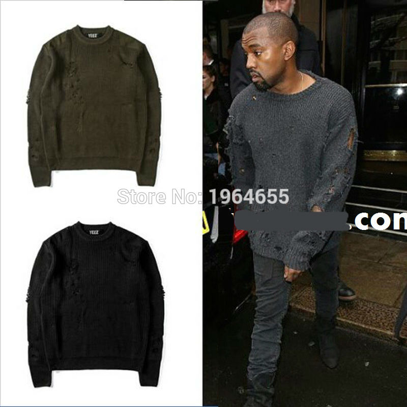 Winter fashion M 2XL black/green kanye west YEEZY pullover shirt men ...