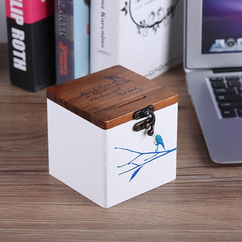 Sonnig Kreative Sparschwein Holz Chinesischen Stil Harz Dekoration Stadt Große Schwein Kinder Desktop Pendel Schmuck Lagerung Box Ein BrüLlender Handel Haus & Garten