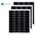 Panneaux Solaire 12 в 50 Вт 3 шт./лот солнечные панели 150 Вт 36 В солнечная батарея водонепроницаемая система солнечной энергии для автомобиля Camp Caravan ...