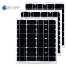 цена на Panneaux Solaire 12V 50W 3Pcs/Lot Panels Solar 150W 36v Solar Battery Waterproof Solar Power System Car Camp Caravan Motorhome