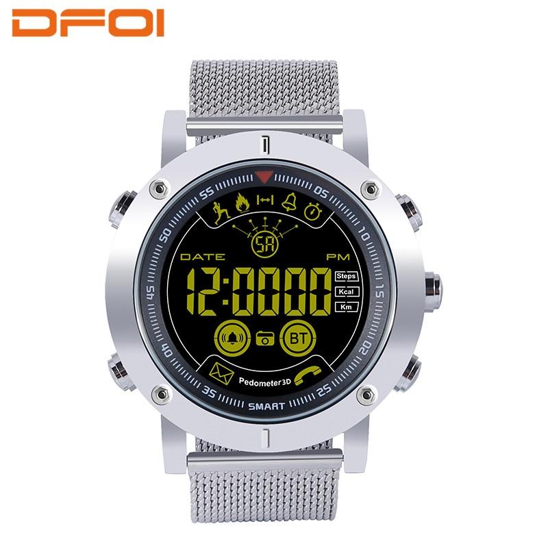 все цены на DFOI Smart Watchs IP68 5ATM sport watch waterproof Ultra-long Standby message Reminder Xwatch Outdoor Swimming Sports Smartwatch онлайн