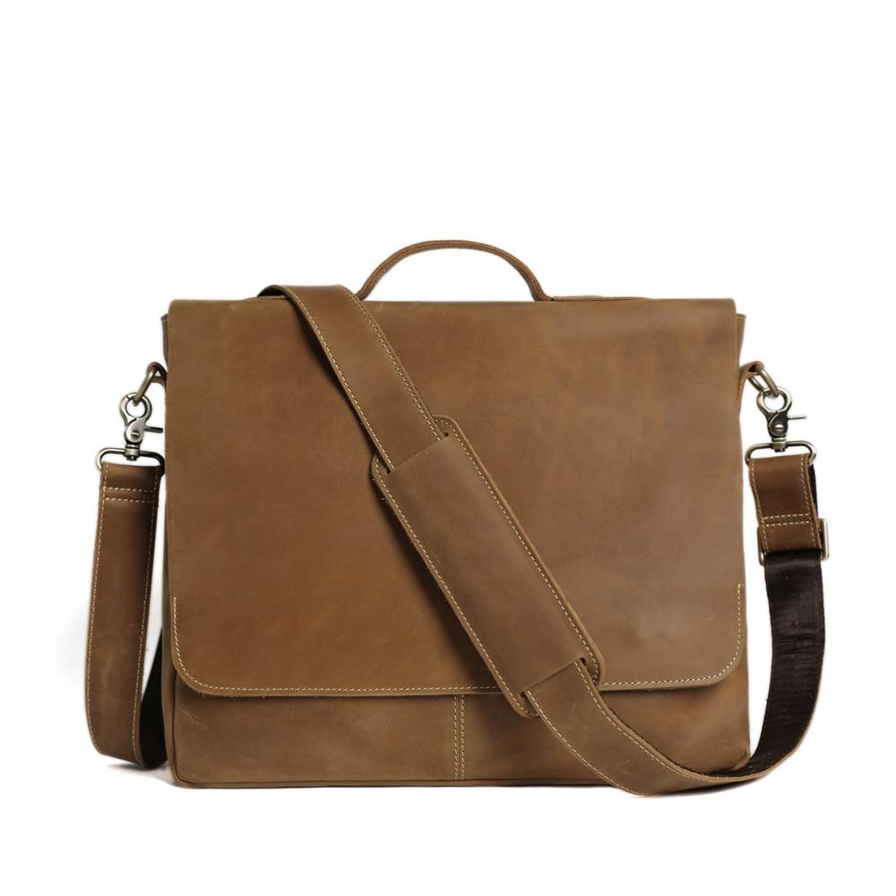 ROCKCOW Laptop supë çanta prej lëkure origjinale, qese crossbody, - Çanta dore - Foto 1