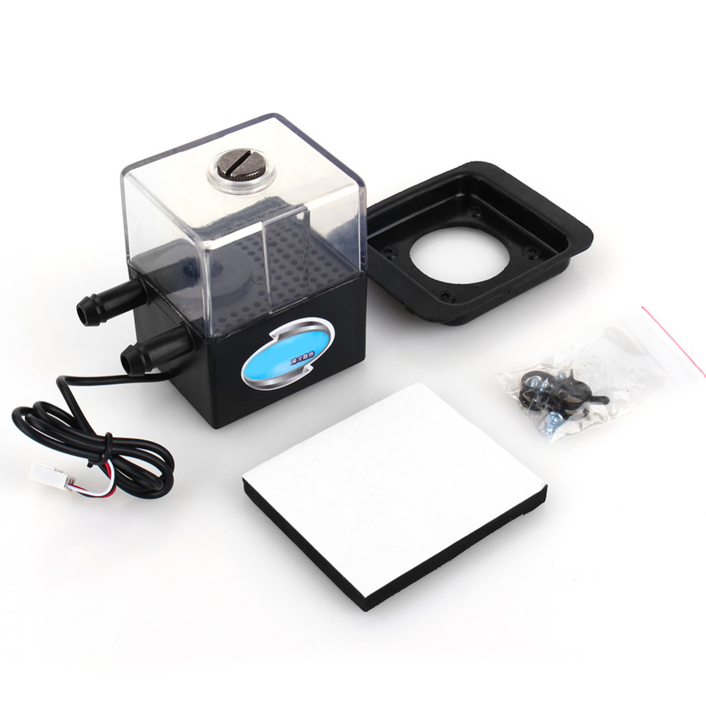 1 Set Sc-300t 12v Dc Ultra-Quiet Water Pump Tank For Pc Cpu Liquid Cooling syscooling sc 300t water cooling pump water pump tank for pc cpu liquid cooling