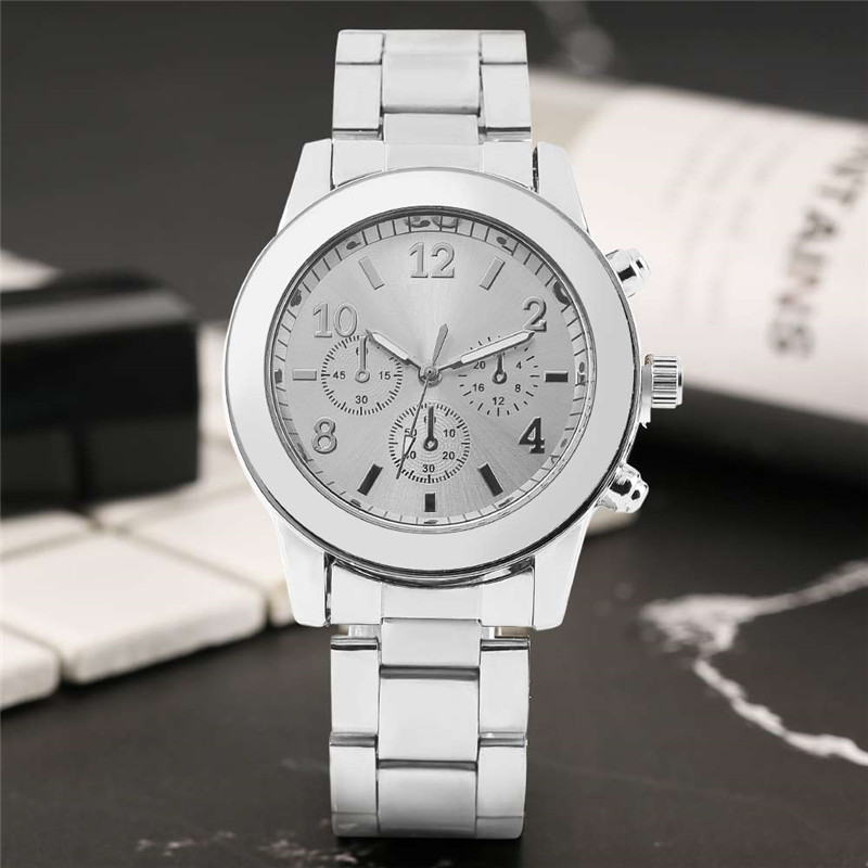 Fashion Simple Style Women Quartz Wristwatch Silver/Black/Rose Gold Stainless Steel Bracelet Clasp Dress Casual Ladies Watches ysdx 398 fashion stainless steel self stirring mug black silver 2 x aaa