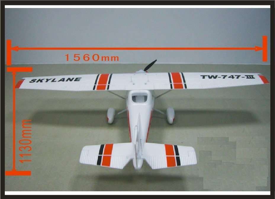 All set EPO plane/ RC airplane/RC MODEL HOBBY TOY/HOT SELL/BEGINNER plane 6 channel plane /1560mm CESSNA182 TW747-3 RTF Set pre sale phoenix 11216 air france f gsqi jonone 1 400 b777 300er commercial jetliners plane model hobby