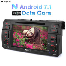 "Pumpkin 2 Din 7""Android 7.1 Car DVD Player For BMW E46/M3/318 GPS Navigation Bluetooth Car Stereo Wifi 3G FM Rds Radio Headunit"