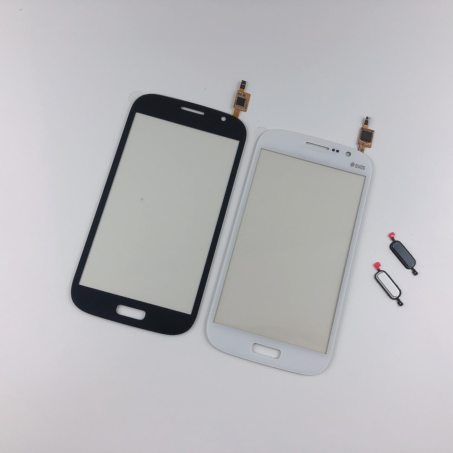 For Samsung Galaxy Grand GT I9082 I9080 Neo I9060 I9062 Touch Screen Digitizer Front Glass Panel+3M Tape+Home Button Return Key