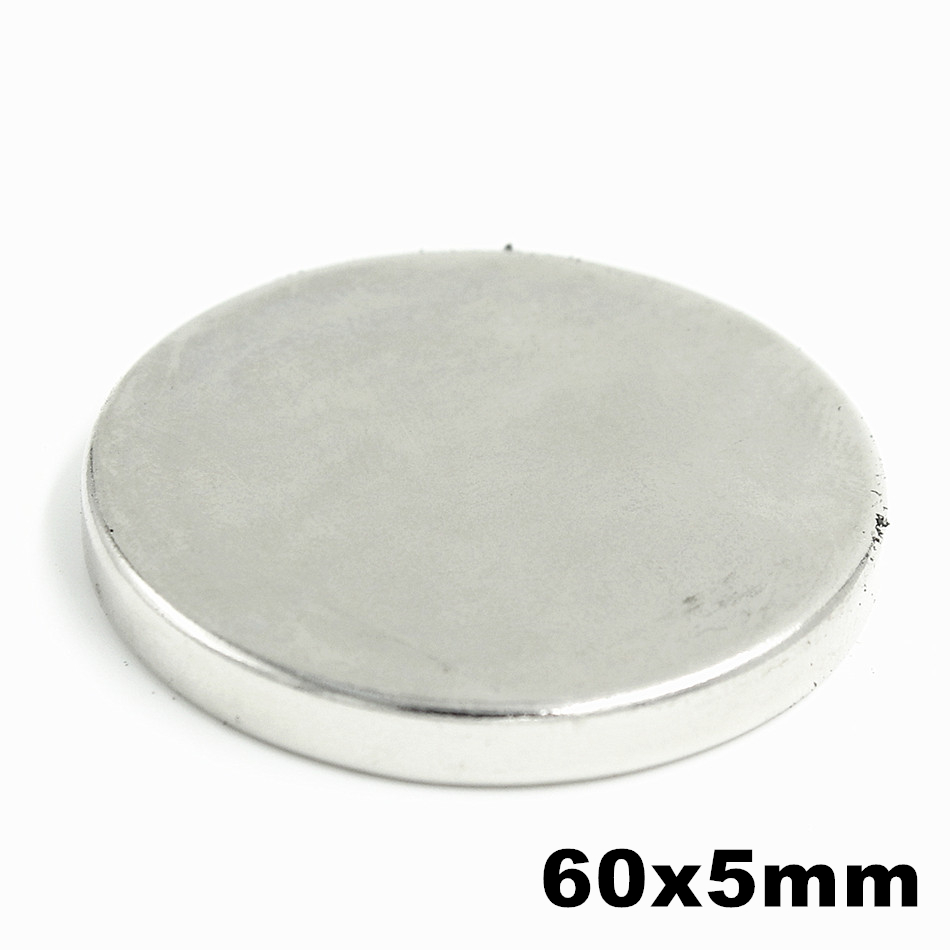 1pcs Super Powerful Strong Bulk Small Round NdFeB Neodymium Disc Magnets Dia 60mm x 5mm N35 Rare Earth NdFeB Magnet 10pcs 60x40x5mm super strong neo neodymium magnet 60x40x5 ndfeb magnet 60 40 5mm 60mm x 40mm x 5mm magnets 60mmx40mmx5mm