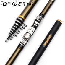 2018 New Design Army Green Rock Fishing Rod Stream Hand toughness  Carbon Fiber Spinning Telescopic Fishing Rods