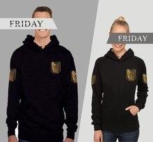 attack on titan hoodie costume hood Men's Sweatshirts big size hoddie for men women/male Sportswear cosplay