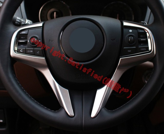 For Acura Cdx 2017 2018 Abs Pearl Chrome Steering Wheel Trim Cover