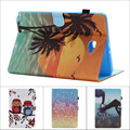 Fashion Flower Tree Owl Card Slot Pu leather stand holder Cover Case For Samsung Galaxy Tab A A6 10.1 P580 P585 With pen