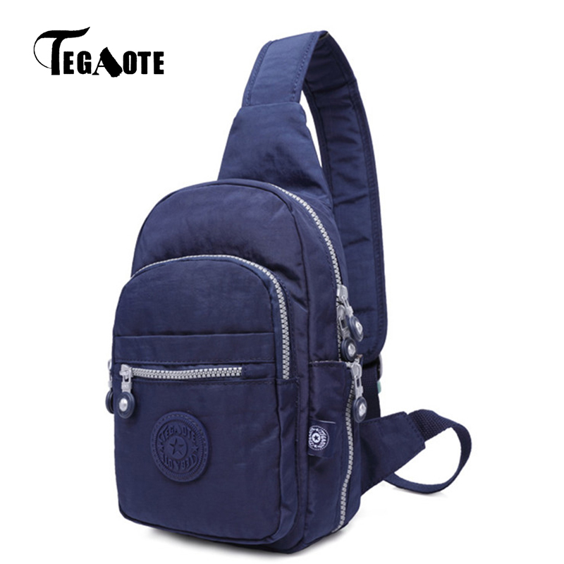 Tegaote Chest Pack Women Single Strap Crossbody Bags Waterproof Leisure Fashion Multifunctional Sling Shoulder Bag 2018 In Top Handle From Luggage