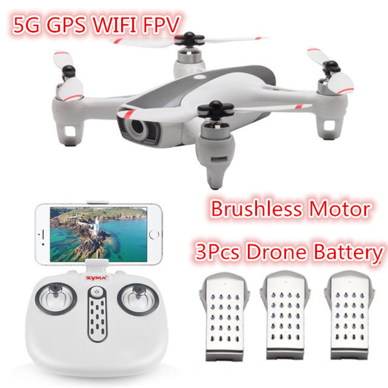 New Brushless motor WIFI FPV RC Drone GPS 5G with 1080P HD Camera Following Gestures RC Quadcopter RTF add 3 battery best gift image