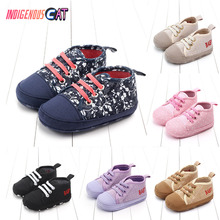 2019 Baby Soft Bottom Shoes Canvas Composite Sole 0-18M First Walkers Shoe Walking