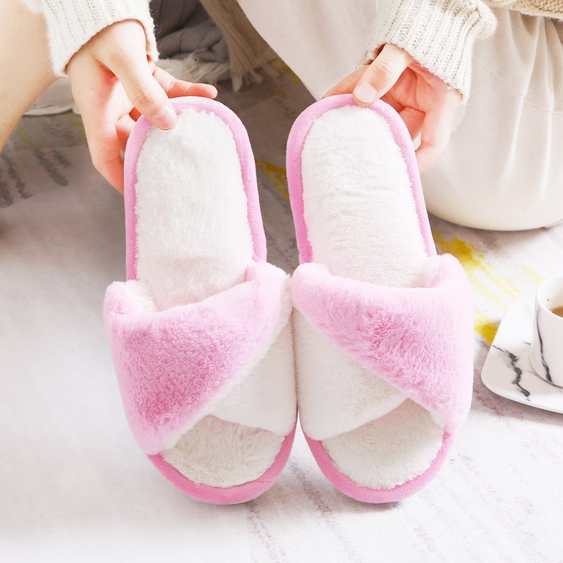 big size44 Warm Home Slippers Women Bedroom Winter Slippers Cartoon Slippers fur slides Autumn lovers female indoor soft bottom big size44 warm home slippers women bedroom winter slippers cartoon slippers fur slides autumn lovers female indoor soft bottom