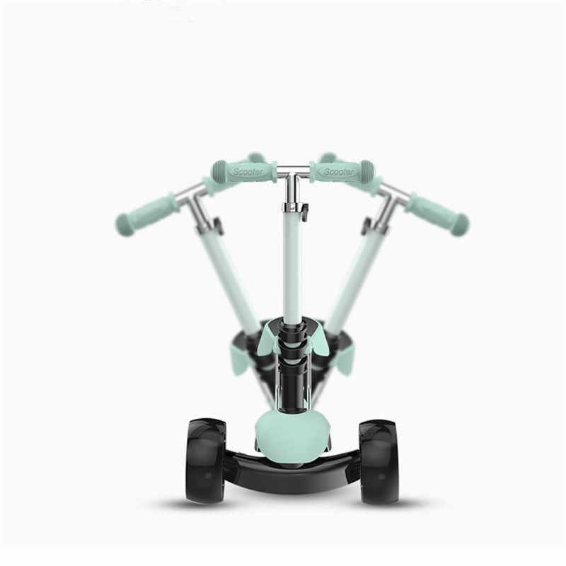 3 1 で子供子供スクーターベビーウォーカー 3 輪取り外し可能な席大人子供キックスクーター折りたたみ健康スポーツ