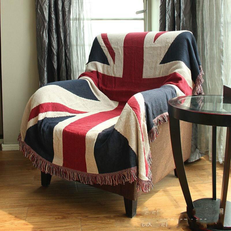 Cotton UK BRITISH flag Blanket Soft Three layer Thicken Blanket Fashion Throw on Sofa Bed Blanket