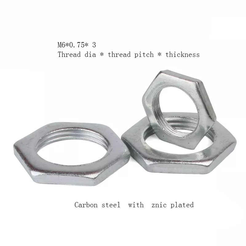 10pcs M24 for Home Industrial Ship Assembly Hex Nut 10Pcs//Set Zinc Plated Carbon Steel 4-Size Thread Nut