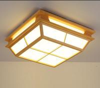 Modern Interior Japanese Ceiling Lights Washitsu Ceiling Decoration Lamp Wood and Paper Hallway Indoor Japanese Lamp Lighting