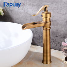 Fapully best selling antique brass basin faucet bathroom