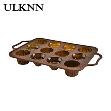 ULKNN 12-Bar Cake Mould Circular Lace Miscellaneous Edges Kitchen Baking Utensils Silicone Durable Easy Clean