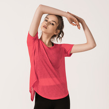 2019 New Style Solid O Neck Breathable Sports Shirts Women Blouses Short Sleeves Tops Plus Size