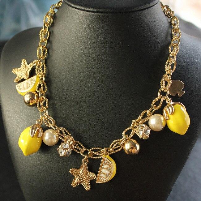 new lemon starfish costly necklace starfish