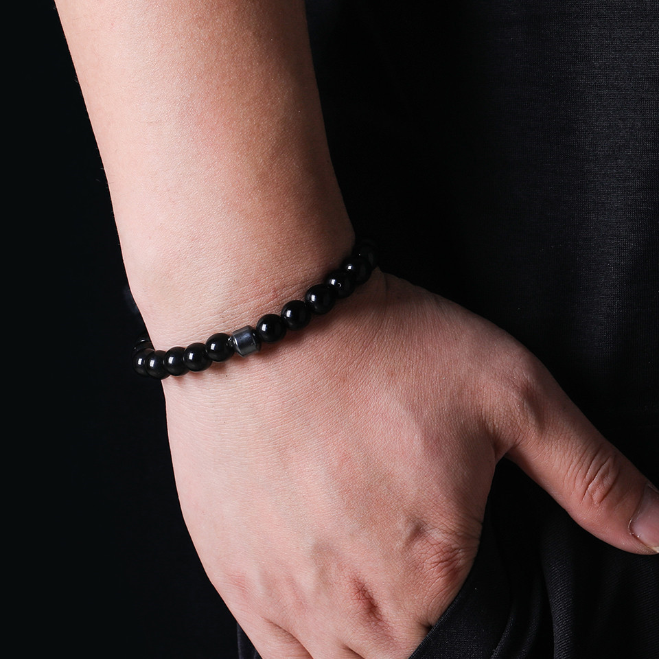 2019 Cylinder Beaded Bracelet For Men Classic Nature Tiger Eyes Stone Beads Charm Bracelets&Bangles Homme Male Yoga Jewelry Gift (9)