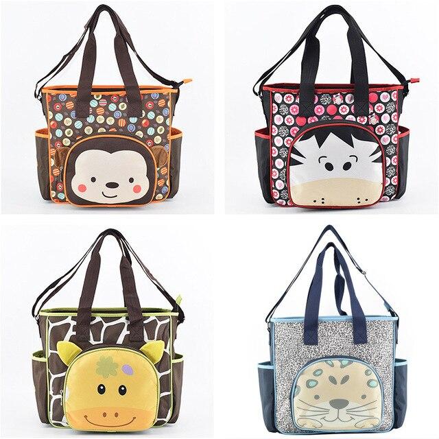 Multifunctional Animal Print Diaper Bag Maternity Mummy Handbag Stroller Bag Large Capacity Messenger Bags Nappy Changing Bags
