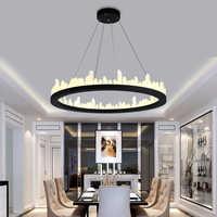moder chandelier light luxury living room lamp Nordic crystal chandelier  atmosphere modern minimalist creative restaurant lamps