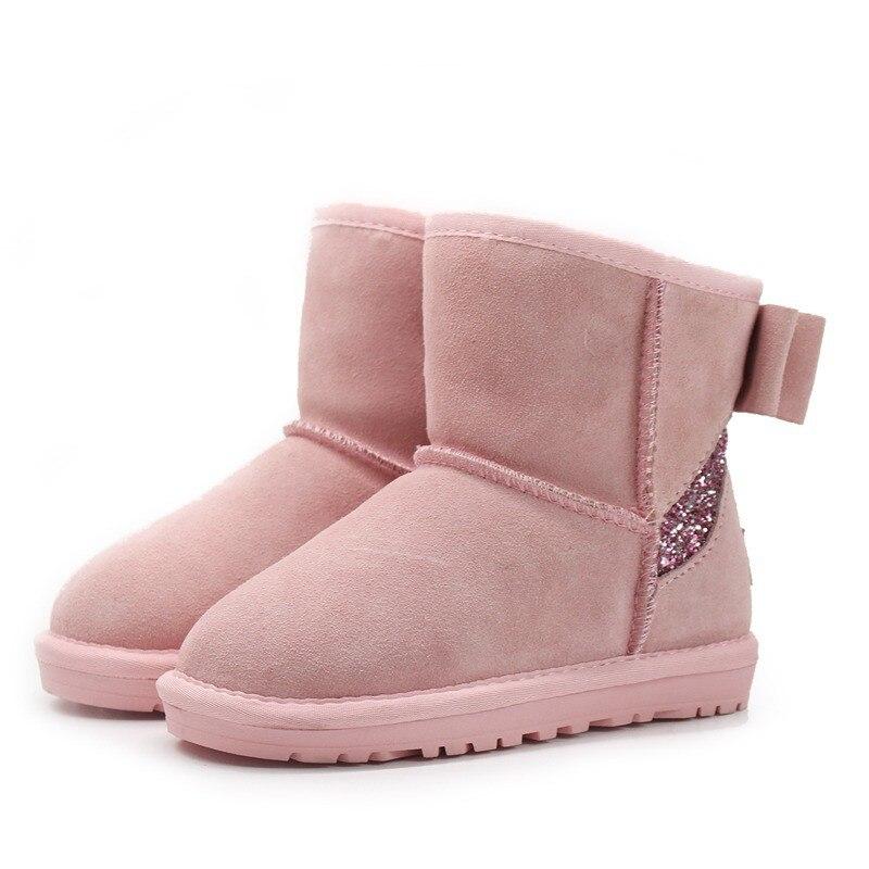 Botas Hija F10 25 black De Madre Tamaño gray Adultos Nieve Familia Piel Color 40 Pink Y sand Invierno Una Niños Felpa Y1OZf