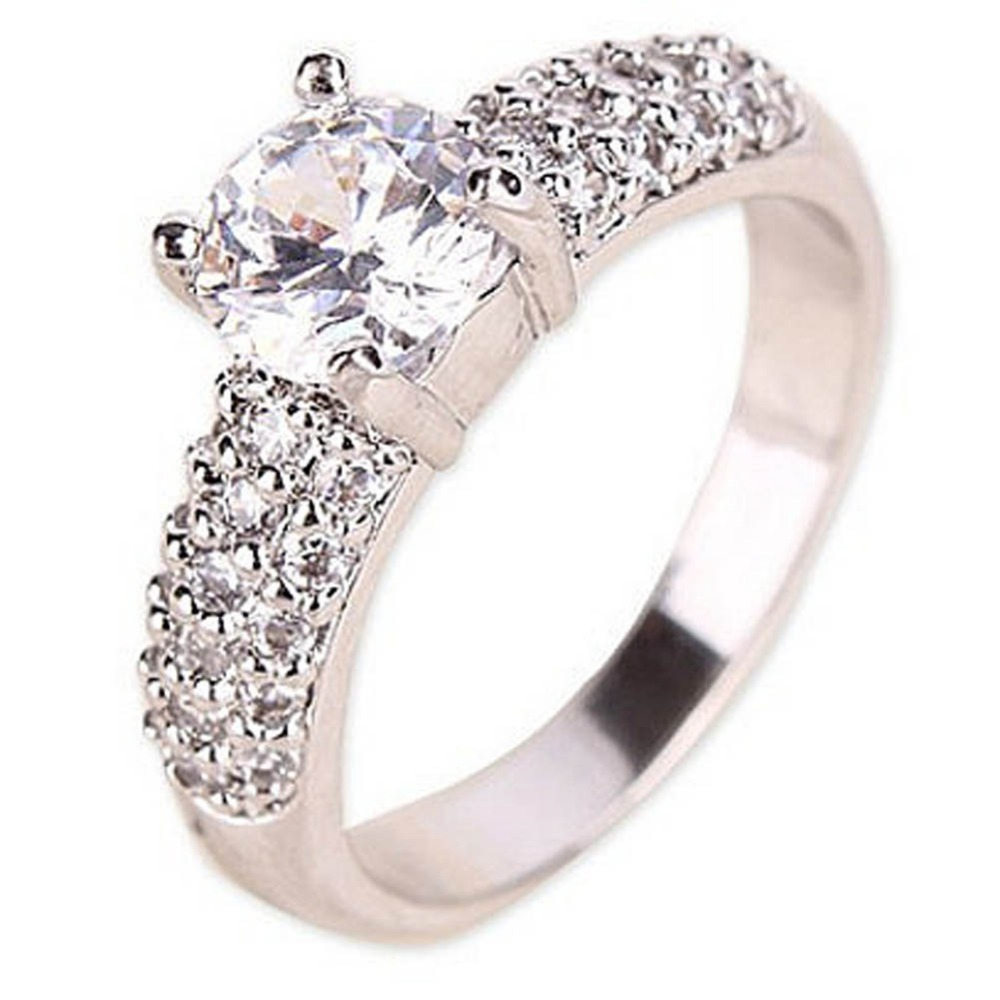 2016 Hot Sale European And American Popular Crystal Micro Zircon Ring US SIZE 6 7 8 Fine Jewelry Drop Shipping