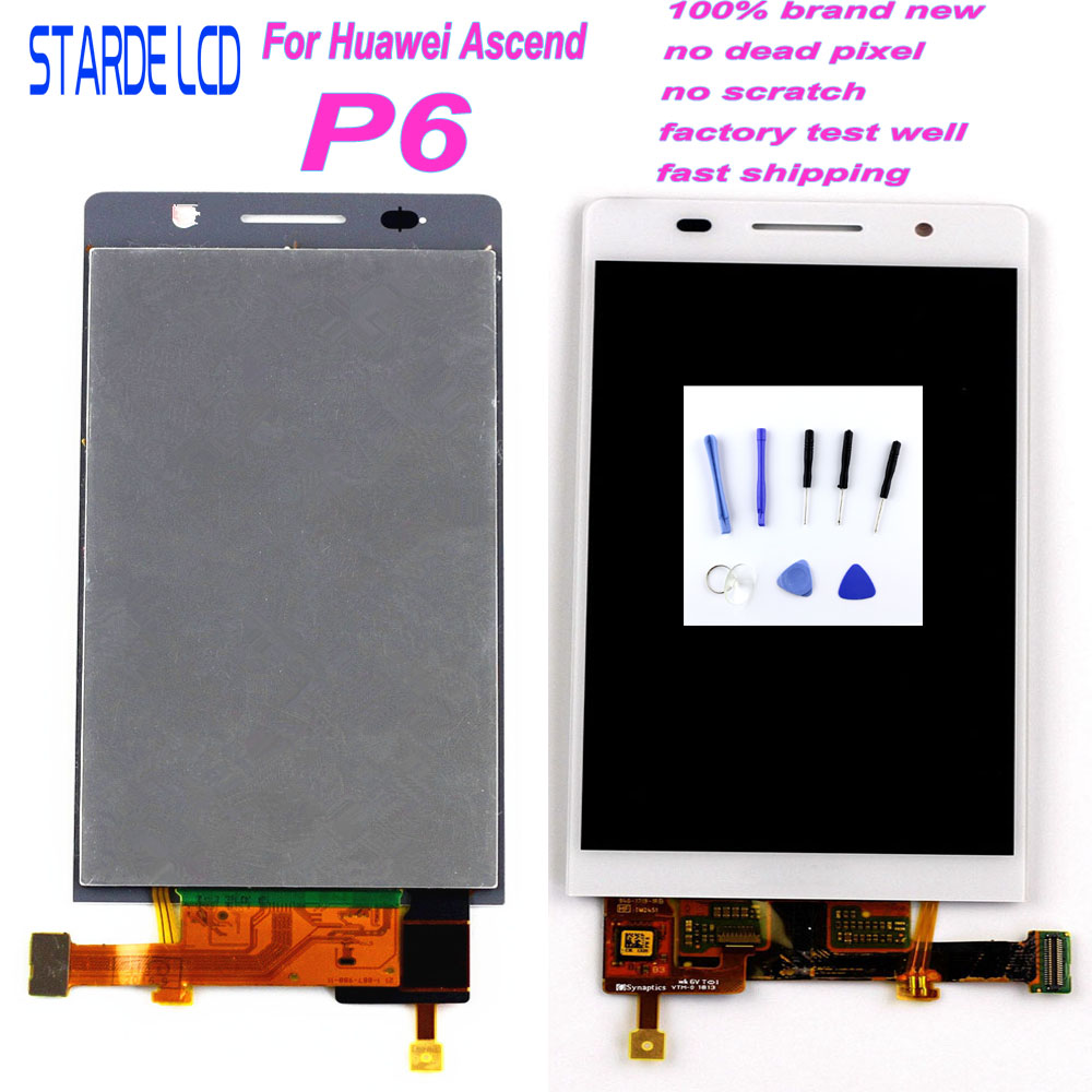 Starde LCD For Huawei Ascend P6 Screen P6S Touch P6-U06 C00 T00 S-U06 Display Digitizer Assembly