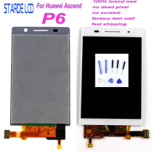 Starde LCD For Huawei Ascend P6 LCD Screen P6S LCD Touch P6-U06 C00 T00 S-U06 LCD Display Screen Touch Screen Digitizer Assembly 100% tested new lcd screen with touch screen digitizer assembly full sets for huawei ascend g6 black or white