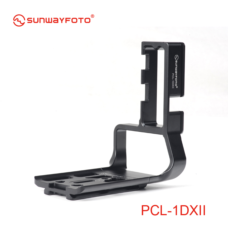 SUNWAYFOTO PCL-1DXII Tripod Head Quick Release Plate for Canon 1DX 1DXII L-bracket Specific Aluminum Quick Release Plate