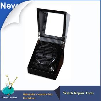 Ultra Luxurious Carbon fiber 2+0 Silent motor Wooden automatic Watch Winder,mechanical watches storage winder box