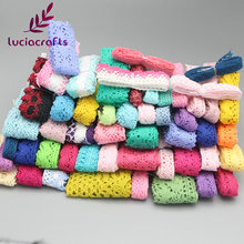 Lucia Crafts 12y/6y(lot) Cotton Lace Trim Ribbons Fabric DIY Sewing Handmade Patchwork Accessories Random Colors/Size 17010003