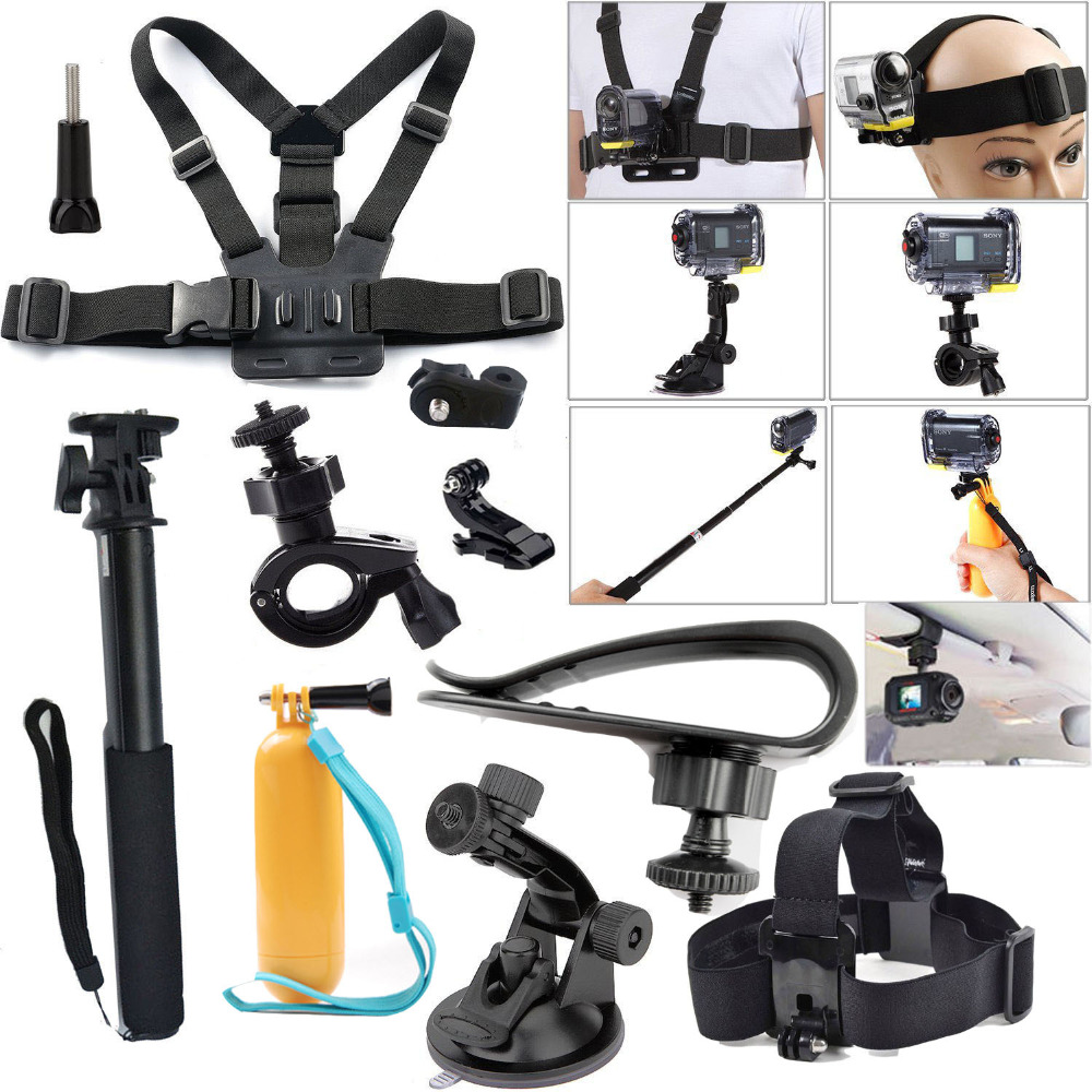 2016 New Accessory Ion Air Pro Kit Accessories for Sony Action Cam HDR AS15 AS20 AS200V AS30V AS100V