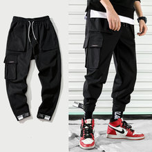 2019 New Fashion Cargo Pants Men Street Style Cotton Jogger