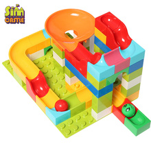 Marble Race Run Compatible Blocks DIY Track Building Blocks Big Size Maze Ball Building Bricks toy for Children 2020pcs alien building blocks diy bricks toy
