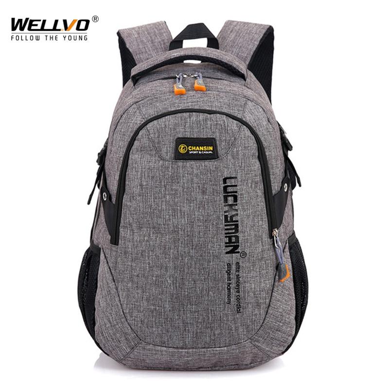 Men Oxford Laptop Backpack Large School Bag For Teenage Boys Students Book Backpacks Men's Travel Mochila Rucksack Bolsa XA58WC