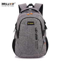 Wellvo Men Oxford Laptop Backpack Large School Bag For Teenage Boys Students Book Backpacks Travel Mochila