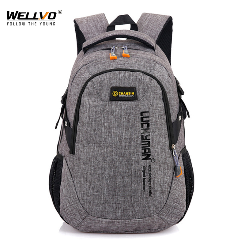 Wellvo Men Oxford Laptop Backpack Large School Bag For Teenage Boys Students Book Backpacks Travel Mochila Rucksack Bolsa XA58WC man s oxford backpack travel laptop backpack men large capacity rucksack shoulder school bag mochila escolar sac a dos