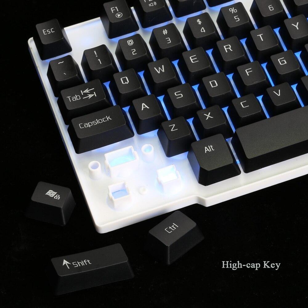 Ice WolfGaming Keyboard LED Backlit Keycaps Multimedia Professional Esport Gaming Qwerty Keyboard USB Wired 104 Keys Ergonomic 3