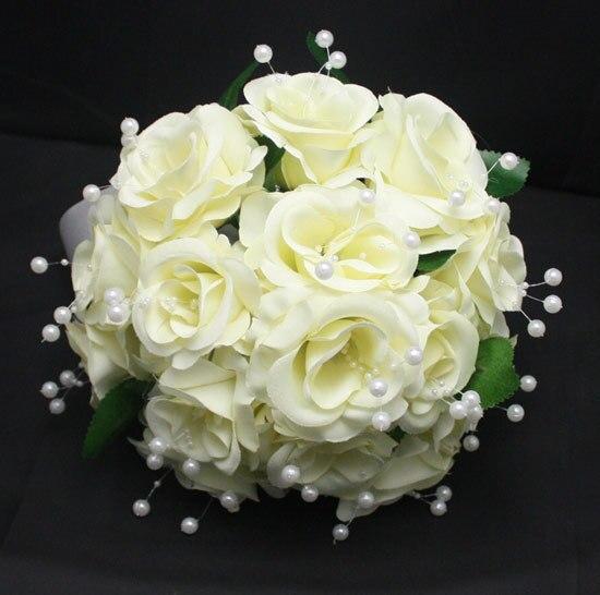 Жемчужно-светло желтый искусственный свадебные букеты Bruidsboeket свадебное Accessoires мантия-де-mariage блан