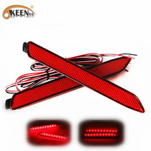 OKEEN 2 stks Achterbumper Reflector Remlicht Voor 2009-2012 Toyota Camry Led auto-styling Parking Waarschuwing DC 12 v Rode LED Lamp(China)