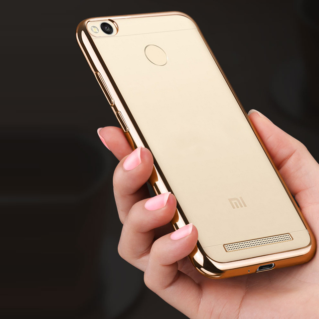 luxury  original transparent soft tpu phone battery cases back coque cover case for xiaomi redmi3 redmi 3 pro 3s s 5.0 Cases