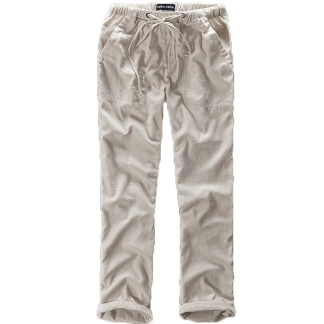 Spring And Summer Men Fashion Brand Chinese Style Cotton Linen Loose Pants Male Casual Simple Thin White Straight Pants Trousers 5